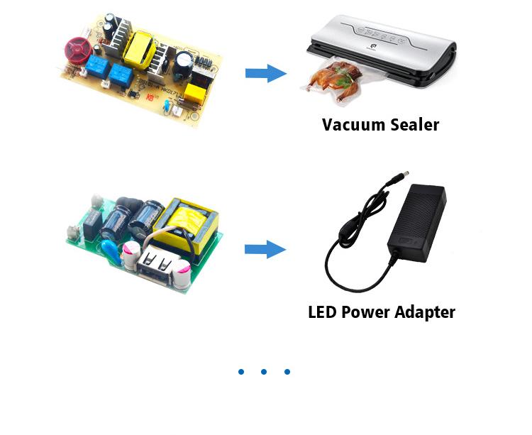 Бързо зареждане на печатни платки 18W импулсно захранване QC3.0 USB AC DC PCBA печатна платка гола платка
